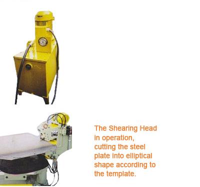 MMS: Machines - Elliptical Head Shear & Flanging Machine